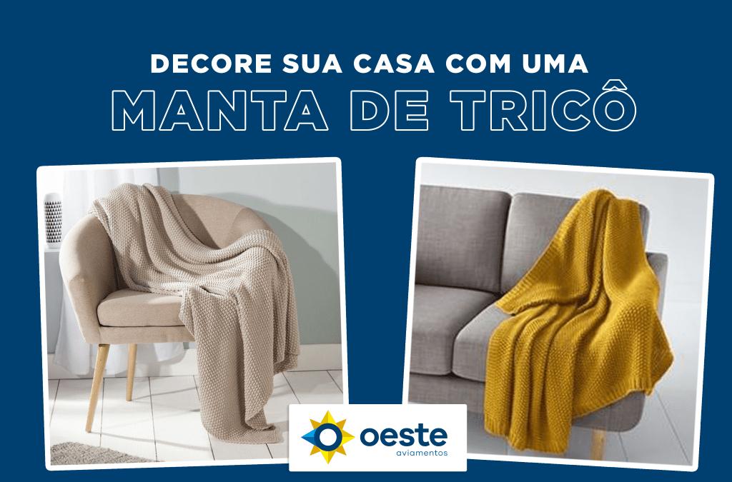 Decore sua casa com uma manta de tricô